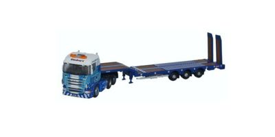 OXFORD 1/148scale Scania Highline Nooteboom 3 axle Semi Low Loader Stobart Rail  [No.OXNSHL01ST]