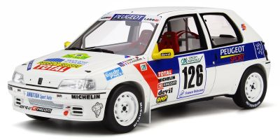 OttO mobile 1/18scale Peugeot 106 Rally Gr. N Rally Vins - Macon (White / Blue / Red)   [No.OTM282]