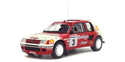 OttO mobile 1/18scale Peugeot 205 T16 Group B Belga Rallye Ypres 1985 (Red / White) World limited 2000  [No.OTM647]