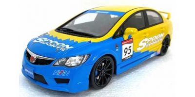 OttO mobile 1/18scale Honda Civic (FD2) Spoon Sports (Blue/Yellow)  Hong Kong Exclusive Model [No.OTM012RT]