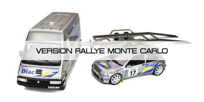 OttO mobile 1/18scale Rally Set / Monte Carlo No.17 1995 Renault Clio Maxi & Renault Master (Silver)  [No.OTM289B]