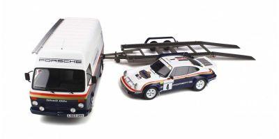 OttO mobile 1/18scale Porsche 911 SC RS 1000 Pistes Rally Set  (Porsche 911 SC RS +VW LT35 +Trailer)[No.OTM331]
