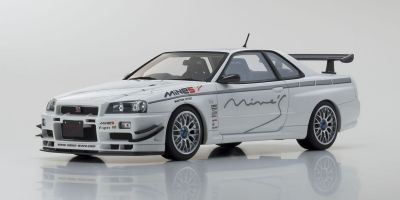OttO mobile 1/18scale Nissan Skyline R34 GT-R Mine's (White)  [No.OTM760]