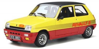 OttO mobile 1/18scale Renault 5 TS Monte Carlo (Yellow / Red) Limited to 2,000 worldwide  [No.OTM891]