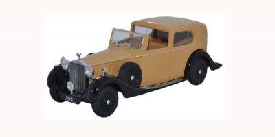 OXFORD 1/43scale Rolls Royce Phantom III SDV Hj Mulliner Light Yellow Brown/Black  [No.OX43RRP3002]