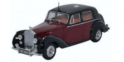 OXFORD 1/43scale Rolls Royce Silver Dawn Std Steel Maroon/Black  [No.OX43RSD001]