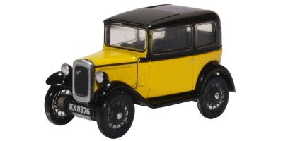 OXFORD 1/76scale Austin Seven Yellow and Black  [No.OX76ASS007]