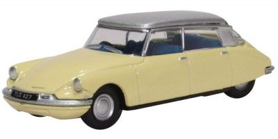 OXFORD 1/76scale Citroen DS19 Jonquil Yellow and Silver  [No.OX76CDS006]