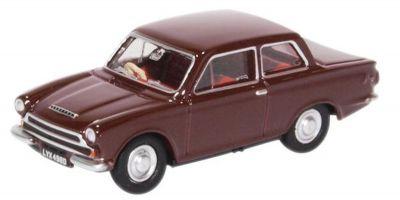 OXFORD 1/76scale Ford Cortina MK1 Black Cherry  [No.OX76COR1009]