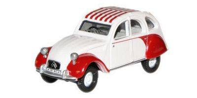 OXFORD 1/76scale Citroen 2 CV Dolly Red / White  [No.OX76CT003]