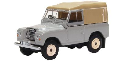 OXFORD 1/76scale Land Rover Series III Canvas Mid Grey  [No.OX76LR3S003]