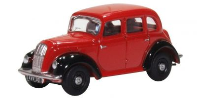 OXFORD 1/76scale Morris Eight E Series Saloon (Red / Black)  [No.OX76MES006]