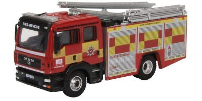 OXFORD 1/76scale MAN Pump Ladder Hertfordshire Fire & Rescue  [No.OX76MFE005]