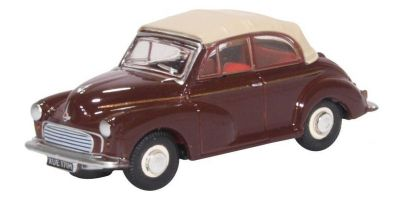 OXFORD 1/76scale Morris Minor Convertible Maroon Tan  [No.OX76MMC006]