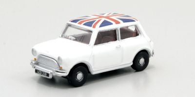 OXFORD 1/76scale Austin Mini Cooper (White / Union Jack)  [No.OX76MN011]
