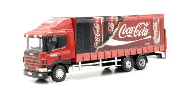 OXFORD 1/76scale Scania 94D 6 Wheel curtain side Coca Cola  [No.OX76S9404CC]