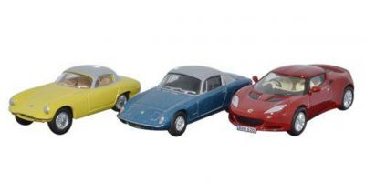 OXFORD 1/76scale 3 Piece Lotus Set Elan_Elite_Evora  [No.OX76SET28]