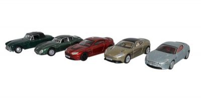 OXFORD 1/76scale Aston Martin 5car set 2017 [No.OX76SET43]