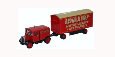 OXFORD 1/76scale Scammell Showtrac & Dodgem Trailer Arnold Bros  [No.OX76SST007]