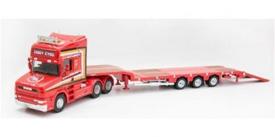 OXFORD 1/76scale Scania T Cab 3 Axle Nooteboom Semi Low Loader Sandy Kydd  [No.OX76TCAB008]