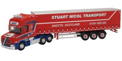 OXFORD 1/76scale Scania T Cab Short Curtainside Stuart Nicol Transport  [No.OX76TCAB010]