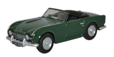 OXFORD 1/76scale Triumph TR4 British Racing Green  [No.OX76TR4002]