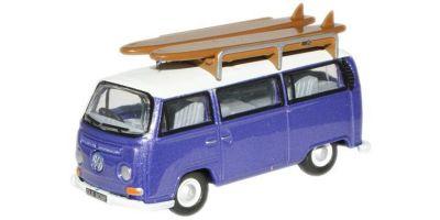 OXFORD 1/76scale VW Minibus(with surfboard) Metallic Purple White  [No.OX76VW015]