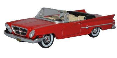 OXFORD 1/87scale Chrysler 300 Convertible Open 1961 Mardi Gras Red  [No.OX87CC61001]