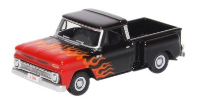 OXFORD 1/87scale Chevrolet Stepside Pick Up 1965 Black/Orange  [No.OX87CP65004]