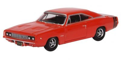 OXFORD 1/87scale Dodge Charger 1968 Bright Red  [No.OX87DC68001]
