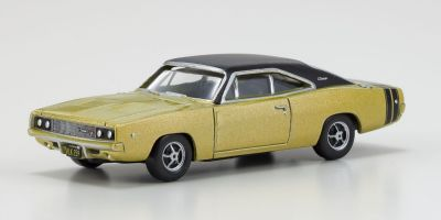 OXFORD 1/87scale Dodge Charger 1968 Gold and Black  [No.OX87DC68002]