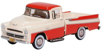 OXFORD 1/87scale Dodge D100 Sweptside Pick Up 1957 Tropical Coral/glacie  [No.OX87DP57001]