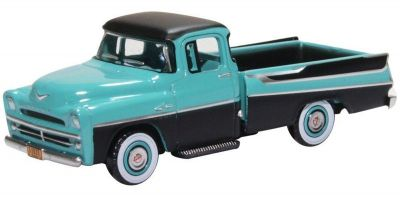 OXFORD 1/87scale Dodge D100 Sweptside Pick Up 1957 Turquoise/Jewel Black  [No.OX87DP57002]