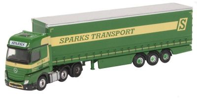 OXFORD 1/148scale Mercedes Actros Curtainside Sparks  [No.OXNMB006]