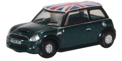 OXFORD 1/148scale New Mini British Racing Green and Union Jack  [No.OXNNMN005]