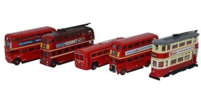 OXFORD 1/148scale Five Piece Bus Set  [No.OXNSET02]