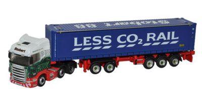 "OXFORD 1/148scale Scania Highline D-TEC Trailer ""LESS CO RAIL""  [No.OXNSHL01CT]"