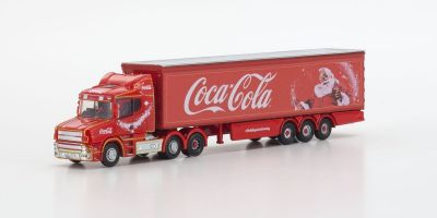 OXFORD 1/148scale Scania T Cab Box Trailer Coca Cola Xmas  [No.OXNTCAB07CC]