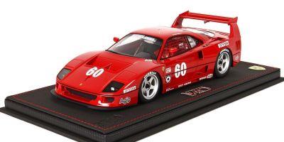 BBR 1/18scale Ferrari F40 IMSA Topeka No. 60 Alesi 1989 (with case)  [No.P18139BV]