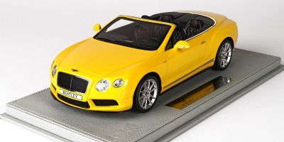 BBR 1/18scale Bentley Continental GT V8 S Convertible 2014 Monaco Yellow with Case  [No.P1887CV]