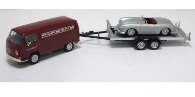 """Premium ClassiXXs 1/43scale VW T2-a BOX VAN TRAILER With Porsche No. 1 """"Porsche Classic""""  [No.PCS11263]"""