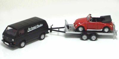 "Premium ClassiXXs 1/43scale VW T3a Box Van Trailer (With Beetle Conbertible ""VW Classic"")  [No.PCS11408]"