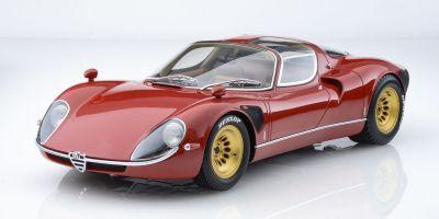 Premium ClassiXXs 1/12scale Alfa Romeo Tipo33 Stradale 1967 Red/Gold Wheel  [No.PCS40036]