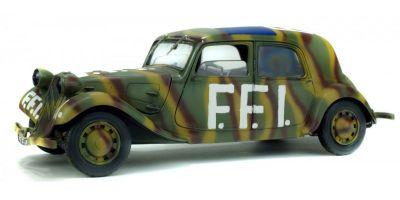 SOLIDO 1/18scale Citroen Traction 11 CV FFI 1944 (Camouflage)  [No.S1800902]