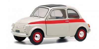 SOLIDO 1/18scale Fiat 500L 1960 white / red  [No.S1801401]
