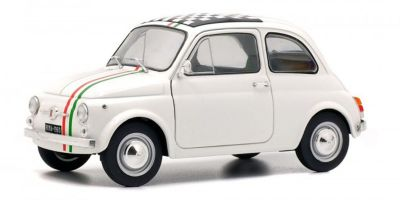 SOLIDO 1/18scale FIAT 500L 1968 white / Italian stripe  [No.S1801403]