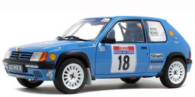SOLIDO 1/18scale Peugeot 205 Rally PTS Tour de Corse 1990 (Blue)  [No.S1801706]