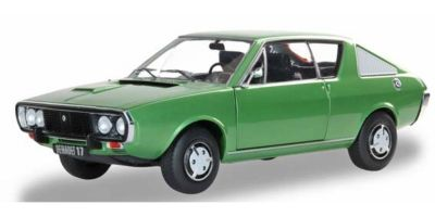 SOLIDO 1/18scale Renault 17 Phase. 1 TL 1976 (Green)  [No.S1803701]