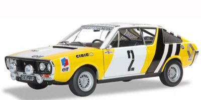 SOLIDO 1/18scale Renault R17 River Lasse Rally 1976 (Yellow / White / Black)  [No.S1803702]