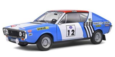 SOLIDO 1/18scale Renault 17 Gordini Press-on Rigger Dress Rally 1974 # 12 (Blue / White / Red)  [No.S1803703]